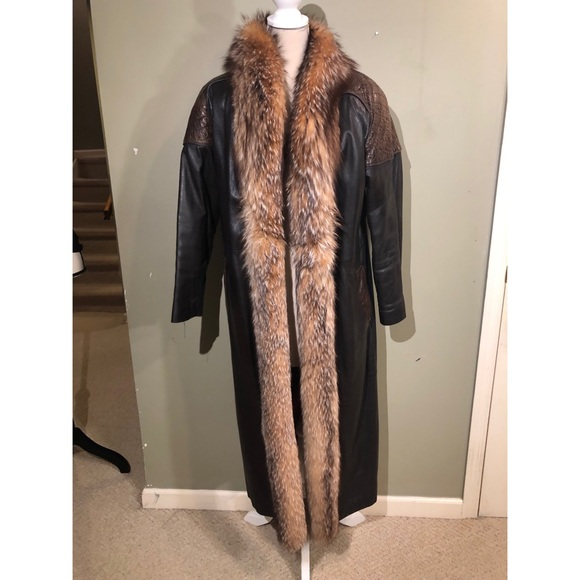 Jackets & Blazers - VINTAGE LEATHER AND FUR